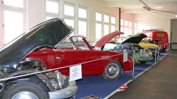 Blick in das Automuseum in Melle